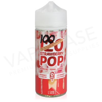 120 Strawberry Pop E-Liquid by Mad Hatter Juice 100ml