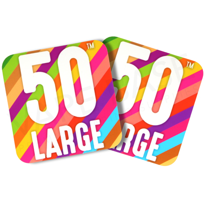 50 Large Sticker