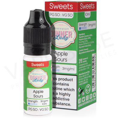 Apple Sours E-Liquid by Dinner Lady Sweets 50/50