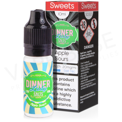 Apple Sours Salt Nicotine E-Liquid by Dinner Lady