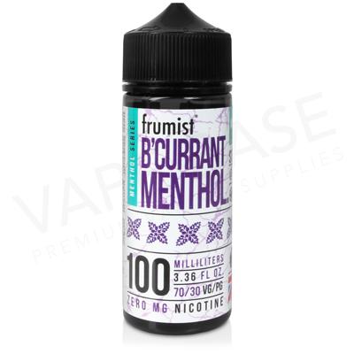 B'Currant Shortfill E-Liquid by Frumist Menthol 100ml