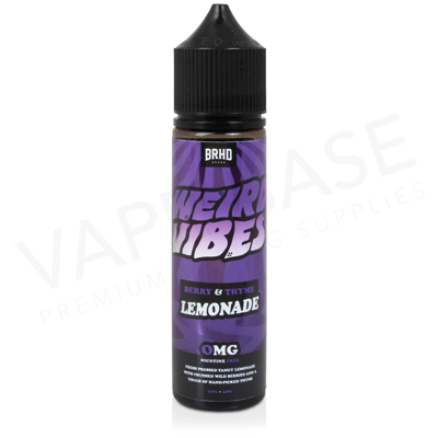 Berry & Thyme Shortfill E-Liquid by Weird Vibes 50ml