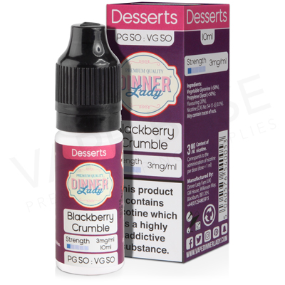 Blackberry Crumble E-Liquid by Dinner Lady Desserts 50/50
