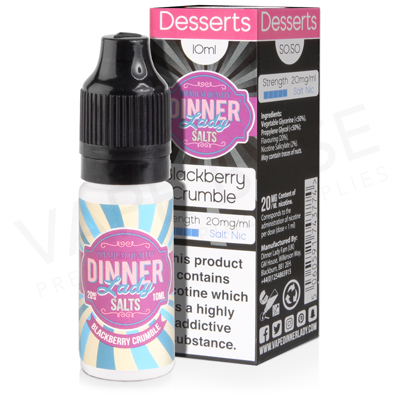 Blackberry Crumble Salt Nicotine E-Liquid by Dinner Lady