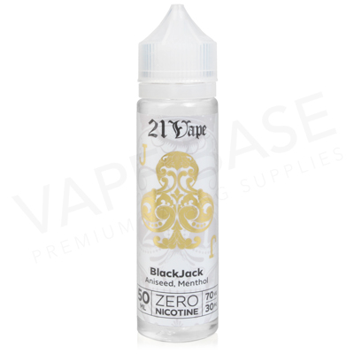 Blackjack Shortfill E-Liquid by Red Liquid 21 Vape 50ml
