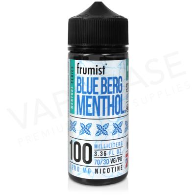 Blue Berg Shortfill E-Liquid by Frumist Menthol 100ml