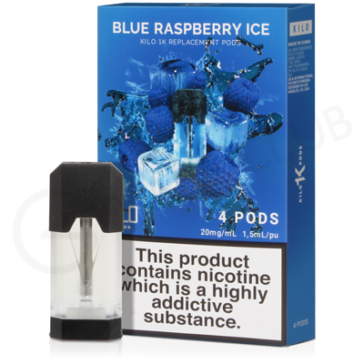 Blue Raspberry Ice E-Liquid Pod by Kilo 1K
