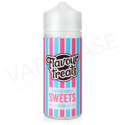 Blue Raz Bubble Shortfill E-Liquid by Flavour Treats Sweets 100ml
