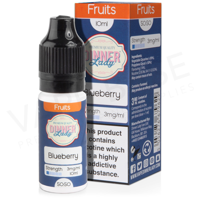 Blueberry E-Liquid by Dinner Lady Fruits 50/50