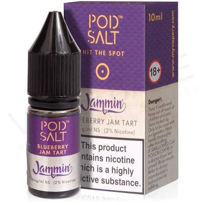 Blueberry Jam Tart Nicotine Salt E-Liquid by Pod Salt Fusions