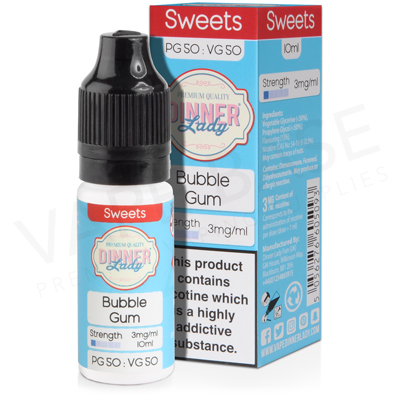 Bubblegum E-Liquid by Dinner Lady Sweets 50/50