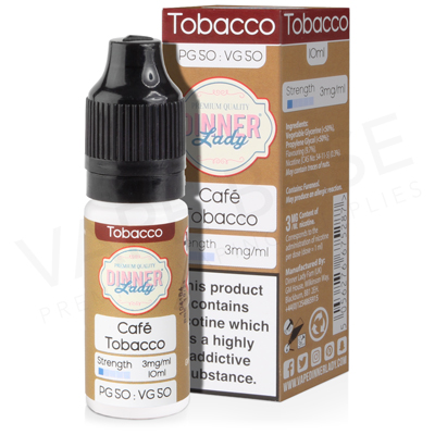 Cafe Tobacco E-Liquid by Dinner Lady 50/50