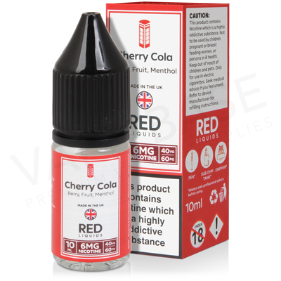 Cherry Cola E-Liquid by Red Liquid 40/60
