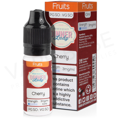 Cherry E-Liquid by Dinner Lady Fruits 50/50