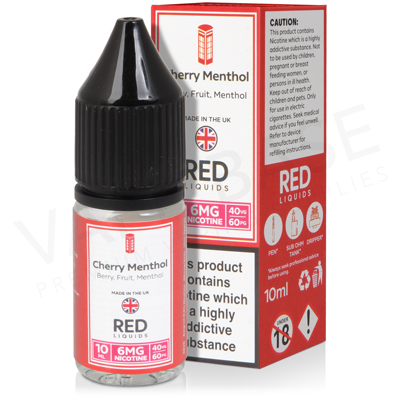 Cherry Menthol E-Liquid by Red Liquid 40/60