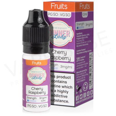 Cherry Raspberry E-Liquid by Dinner Lady Fruits 50/50