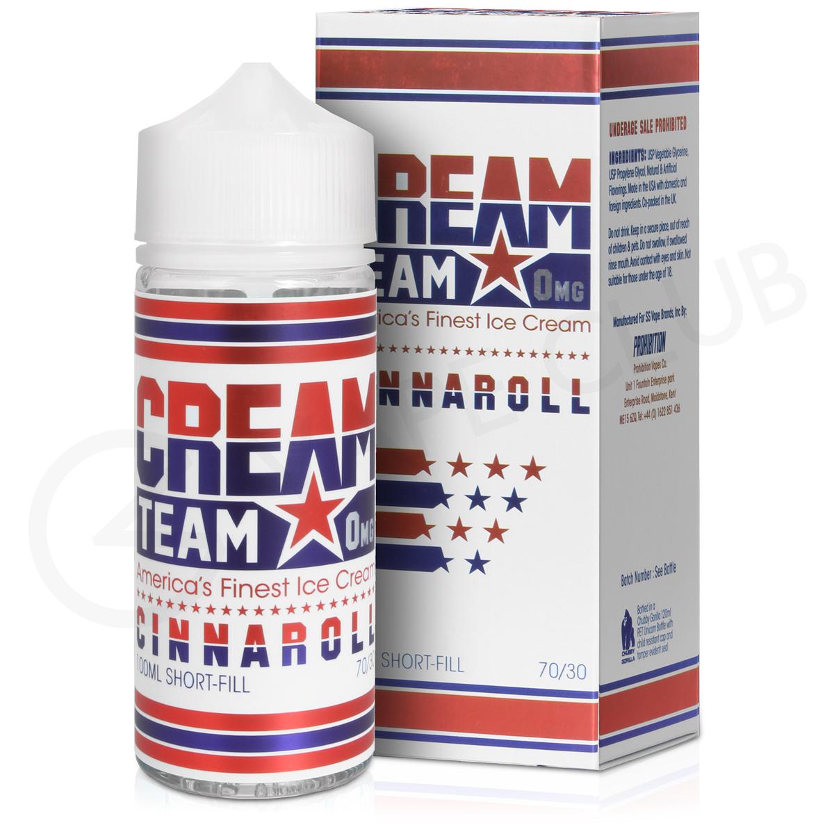 Cinnaroll E-Liquid by Cream Team 100ml