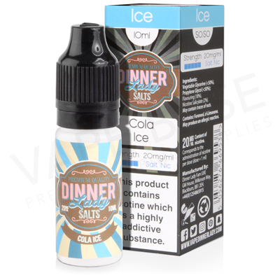 Cola Ice Salt Nicotine E-Liquid by Dinner Lady