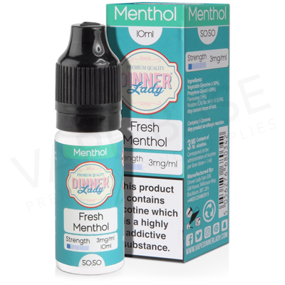 Fresh Menthol E-Liquid by Dinner Lady Menthol 50/50