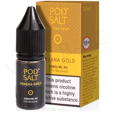 Havana Gold Nicotine Salt E-Liquid by Pod Salt