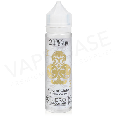 King Of Clubs Shortfill E-Liquid by Red Liquid 21 Vape 50ml
