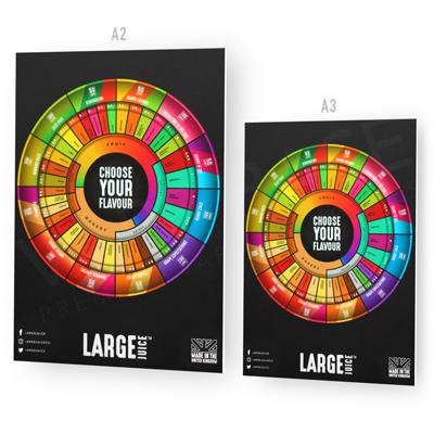 Large Juice Flavour Wheel Foamex Poster
