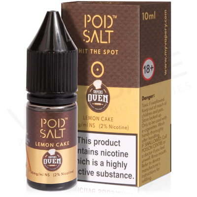 Lemon Cake Nicotine Salt E-Liquid by Pod Salt Fusion