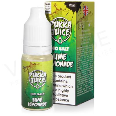 Lime Lemonade Nic Salt E-Liquid by Pukka Juice