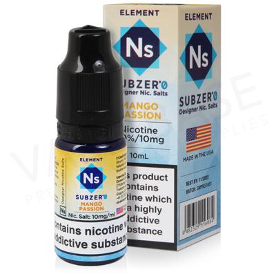 Mango Passion Nic Salt E-Liquid by Element Subzero