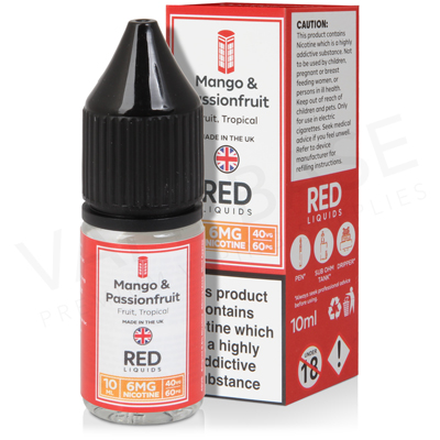 Mango and Passionfruit E-Liquid by Red Liquid 40/60