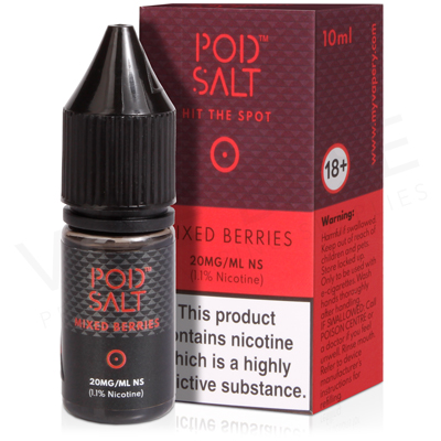 Mixed Berries Nicotine Salt E-Liquid by Pod Salt
