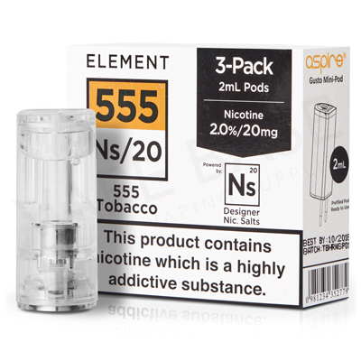 NS20 + NS10 555 Tobacco Pod E-Liquid by Element
