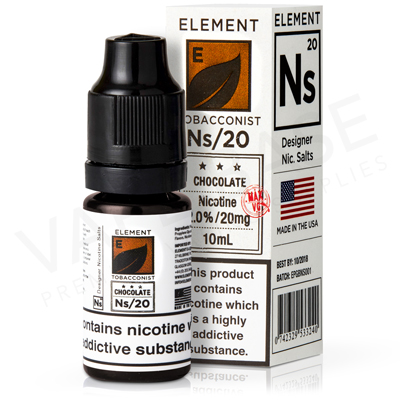 NS20 + NS10 Chocolate Tobacco E-Liquid by Element Tobacconist