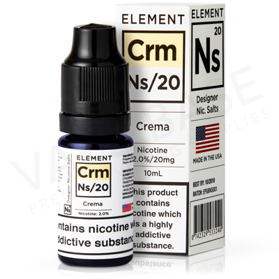 NS20 + NS10 Crema E-Liquid by Element