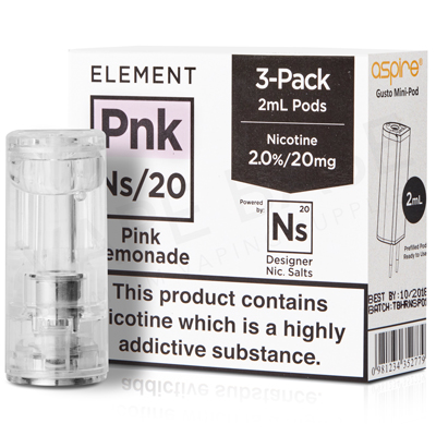 NS20 + NS10 Pink Lemonade Pod E-Liquid by Element