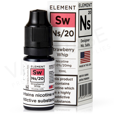 NS20 + NS10 Strawberry Whip E-Liquid by Element