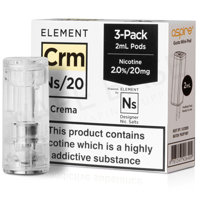 NS20 + NS10 Crema Pod E-Liquid by Element
