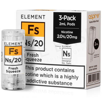 NS20 + NS10 Fresh Squeeze Pod E-Liquid by Element