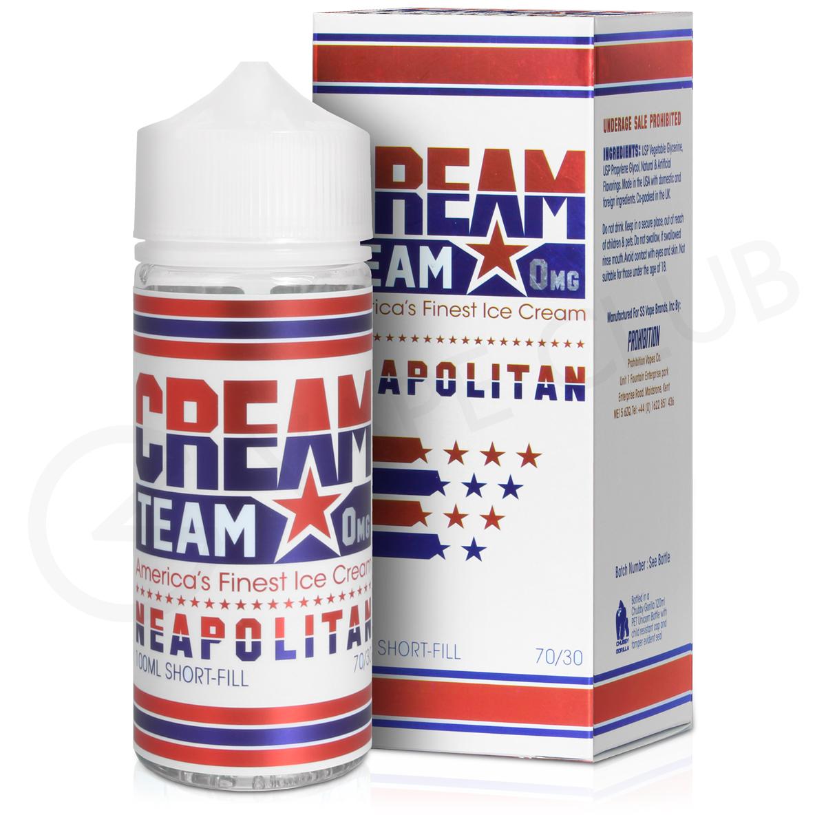 Neapolitan E-Liquid by Cream Team 100ml