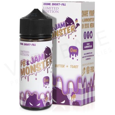 PB and Grape E-Liquid by Jam Monster 100ml