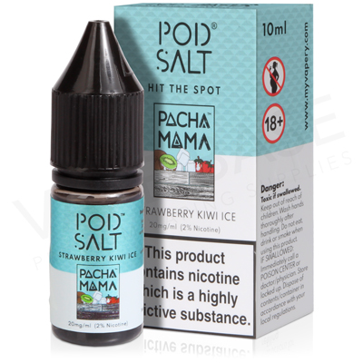 Pacha Mama Strawberry Kiwi Ice E-Liquid by Pod Salt Fusions