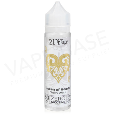 Queen Of Hearts Shortfill E-Liquid by Red Liquid 21 Vape 50ml