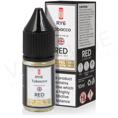 RY6 Tobacco E-Liquid by Red Liquid 50/50