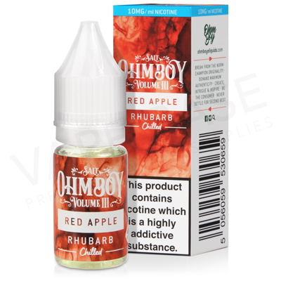 Red Apple Rhubarb Nic Salt E-Liquid by Ohm Boy Volume III