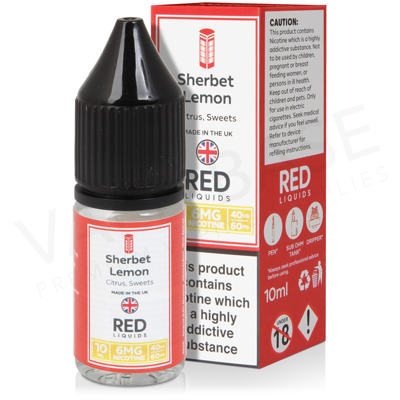 Sherbet Lemon E-Liquid by Red Liquid 40/60