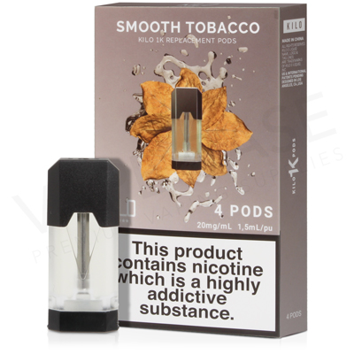 Smooth Tobacco E-Liquid Pod by Kilo 1K
