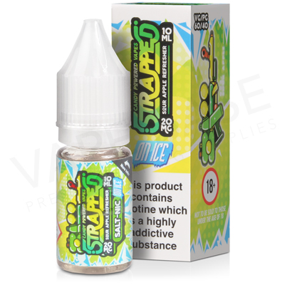 Sour Apple Refresher On Ice Nic Salt E-Liquid by Strapped