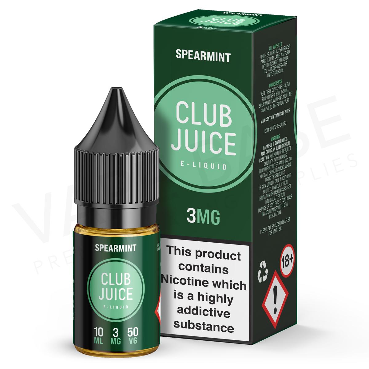 Spearmint E-Liquid by Club Juice 50/50