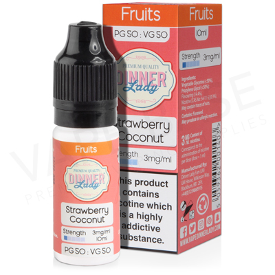 Strawberry Coconut E-Liquid by Dinner Lady Fruits 50/50