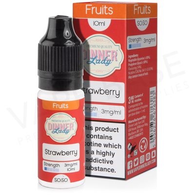 Strawberry E-Liquid by Dinner Lady Fruits 50/50